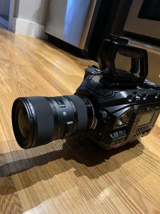 Blackmagic URSA Mini Pro W/Sigma Lens 18-35mm & 128gb Card