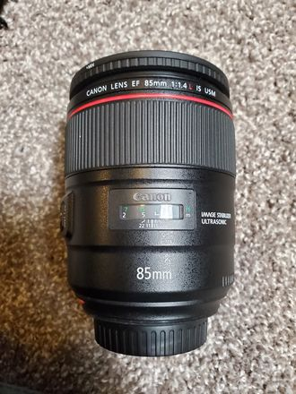 Canon 85 mm IS F 1.4