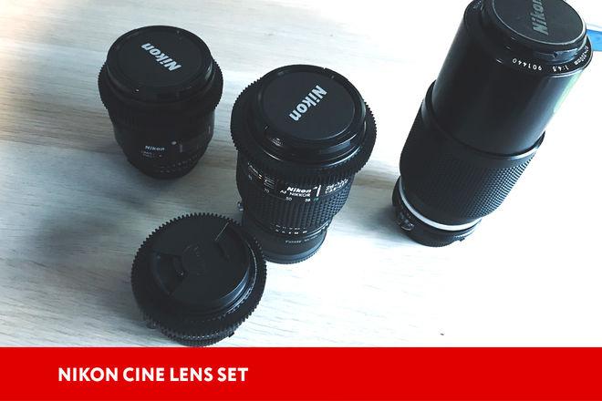 Nikon Set lens (with cine gears + adapters)