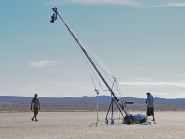 Rent: 33 ft Jib with 3 Axis Head, Transportation and Operator.