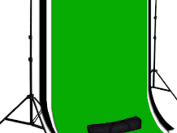 Rent: Studio Time with White/Black/Green backdrop. (HALF-DAY)