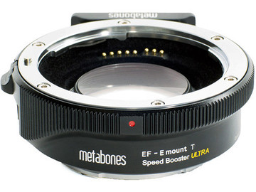 Rent: Metabones Speed Booster,  E-mount camera/EF lens