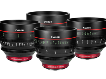 Rent: Canon CN-E Set (24-35-50-85)