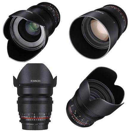 Rokinon EF cinema Lenses 16, 24, 35, 50, 85mm 5 LENSES TOTAL