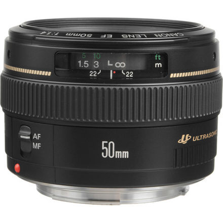 Canon EF 50mm f/1.4 USM, Lens Hood & UV Filter
