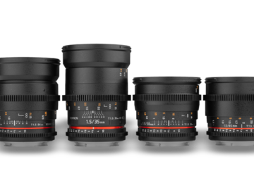 Rent: Rokinon Cine Lenses Set 24, 35, 50, 85mm T1.5 EF Canon mount