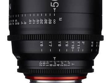 Rent: Rokinon Xeen Cinema Lens Package (EF) 35, 50, 85mm T1.5
