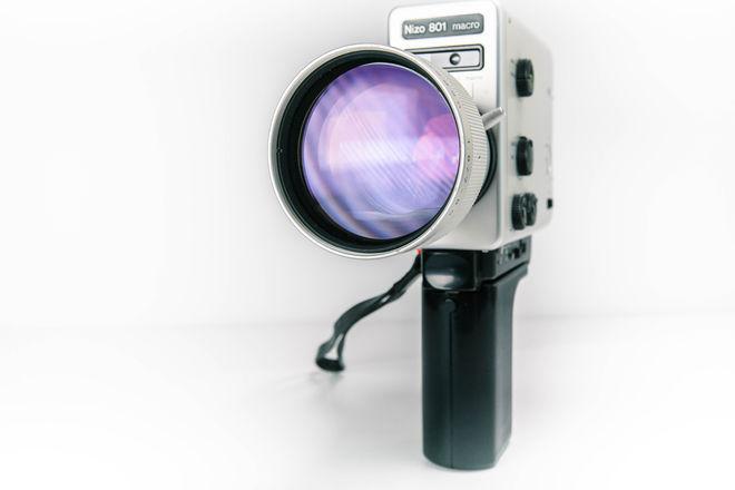 SUPER 8mm Camera, 12-54 fps, Intervalometer, Macro Lens