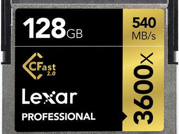 Rent: Lexar 128gb CFast 2.0 540MB/s Card