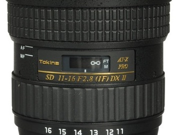 Rent: Tokina 11-16mm f/2.8 AT-X 116 PRO DX- II -EF (77mm)