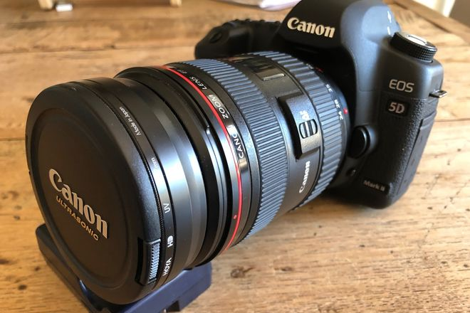 Canon EOS 5D w 24-70 zoom and 50mm