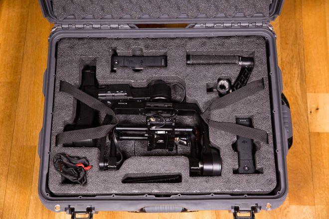 DJI M Ronin 3-Axis Gimbal Stabilizer W/ Rolling Hard Case