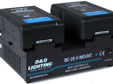 2 x 130Wh V-Mount Batteries & Dual V-Mount