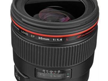 Rent: Canon EF 35mm f/1.4L USM Lens