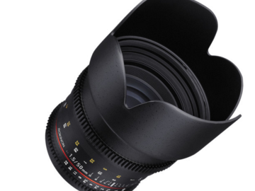 Rent:  Rokinon 50mm T1.5 AS UMC Cine DS Lens for Canon EF Mount	Ro