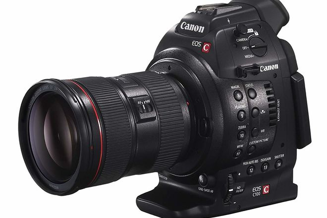 Canon C100 MII, with 24-105 lens