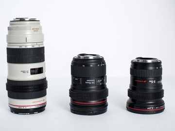 Rent: Canon L series zoom set
