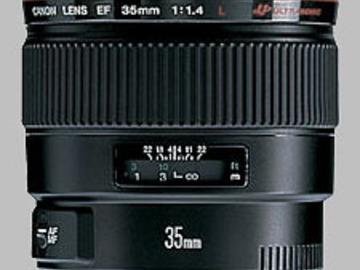 Rent: Canon 35MM L Lens F1.4