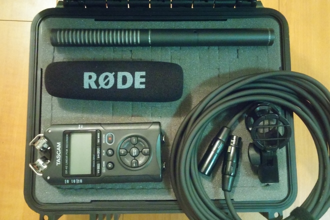 Rode NTG-2 Shotgun Mic & Tascam DR-40 w/ Boom Audio Package