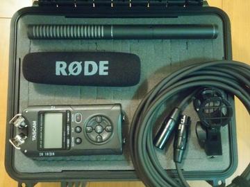 Rode NTG-2 Shotgun Mic & Tascam DR-40 w/ Boom Audio Package