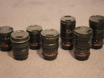 Rent: Rokinon Cine DS Set + Tokina 11-16