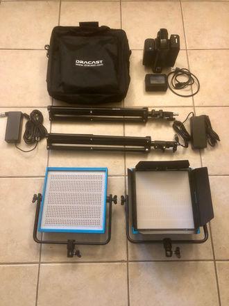 Dracast LED1000 Pro Bi-Color LED 2-Light Kit w/Batteries
