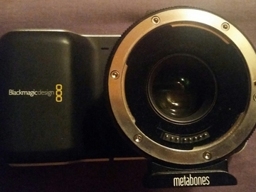 Rent: Blackmagic Pocket Cinema Camera w/ Metabones EF Speedbooster