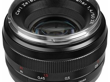 Rent: Carl Zeiss 50mm f/1.4 ZE Planar T*