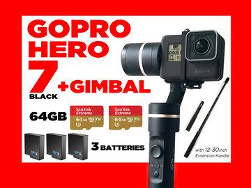 GoPro HERO 7 + Gimbal  ...............(not hero6 or hero5 )