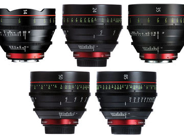 Rent: Canon CN-E Cinema Prime Lens Set  (Pick 3)