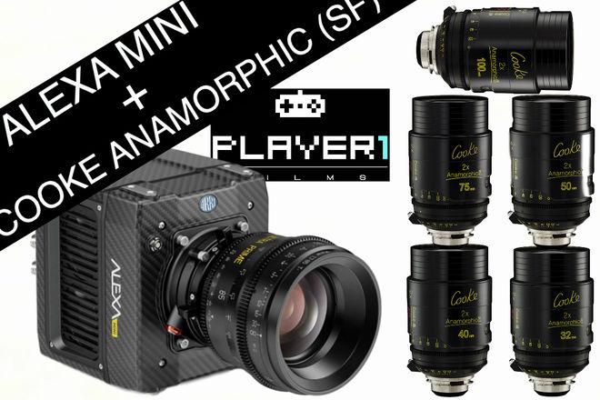 Alexa Mini + Cooke Anamorphic SF Lens package!!!