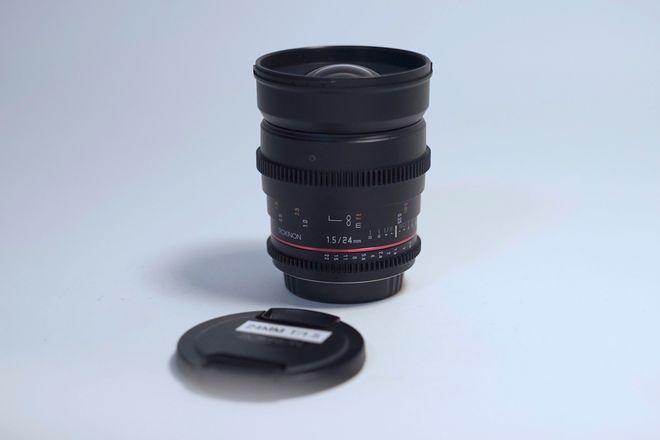 """Rokinon 24mm T/1.5 Cine DS in EF - Close Focus - 10""""/0.25m"""
