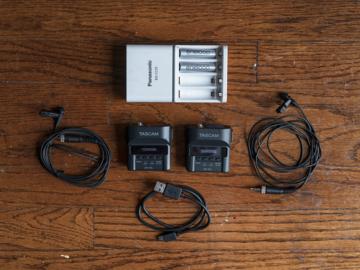 2x Tascam DR-10L w/ Lav Mic + Batteries