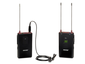 Rent: Shure FP1 Transmitter with FP5 Receiver + Countryman B3 lav