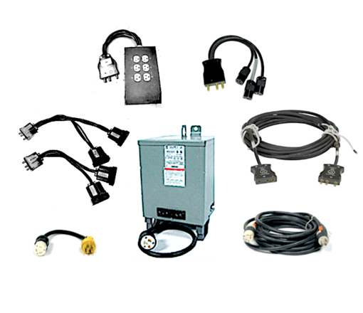 60 Amp Distro / Transformer Power Package - 60a Bates cables