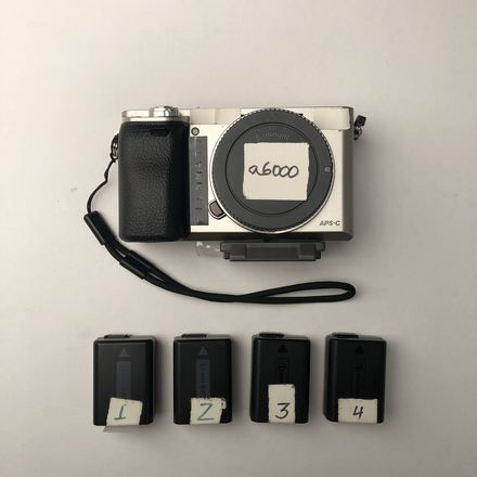 Sony Alpha a6000 with 4 batteries
