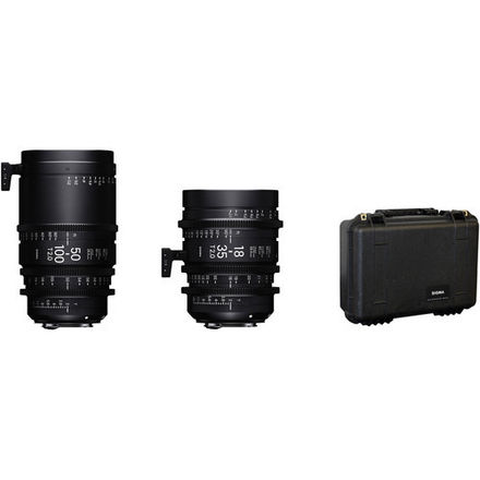 Sigma 18-35mm and 50-100mm Lenses with Case (Canon EF)