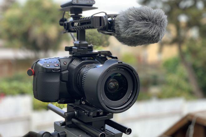BMPCC 4K with Metabones SPEEDBOOSTER, plus Canon 17-40mm