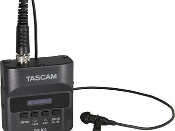 Tascam DR-10L Digital Audio Recorder w/ Lavalier 02 (Black)