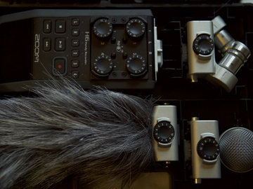 Rent: Zoom H6 Handy Recorder w/ Interchangeable Mics & 32 GB card