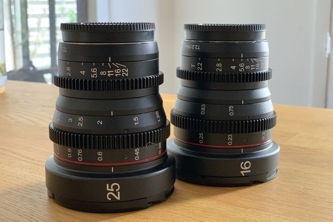 Meike Cinema Lens Set - 16mm & 25mm T2.2 MFT