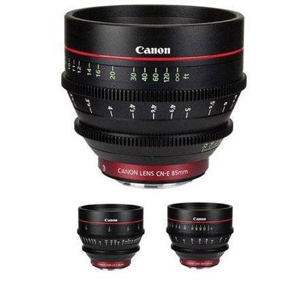 Canon CN-E Cinema Prime 3 Lens Set (24mm, 50mm, 85mm)