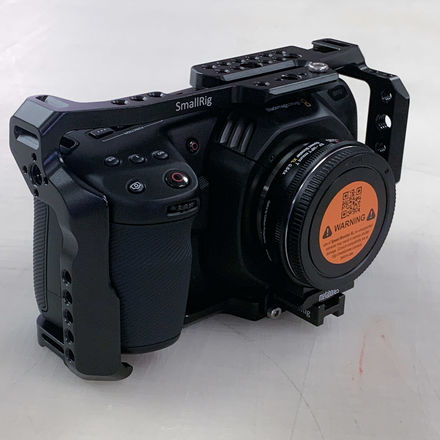 Blackmagic Pocket Cinema 4K w/full cage & EF Adapter