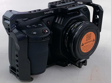 Blackmagic Pocket Cinema 4K w/full cage &  speed booster