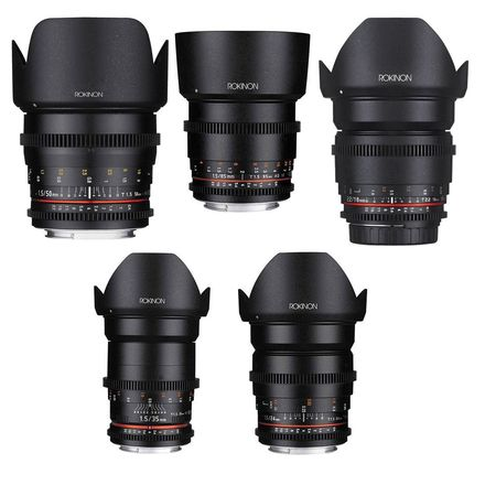 Rokinon Cine DS Prime Lens 16mm 24mm 35mm 50mm 65mm Canon EF