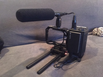 Rent: Sony A7s cage, Tascam DR60 and Audio Technica Shotgun Mic