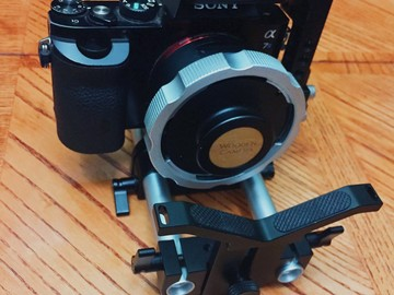 Rent: Sony A7S [Small Rig Cage]w/ Wooden Camera PL Mount & Support