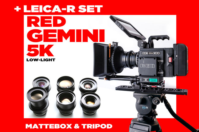 LEICA-R Set + RED GEMINI  (not epic-w 8k weapon helium )
