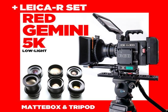 LEICA-R Set + RED GEMINI 5k .......(not epic dragon 6k 8k )