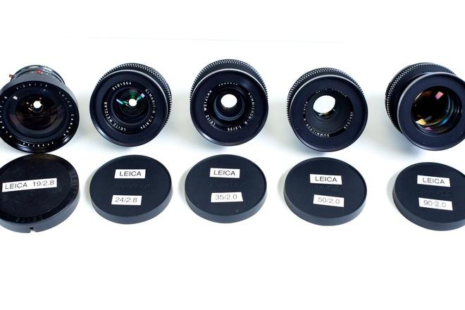 Leica-R 6 lens Set: Cine-Modified with EF mounts